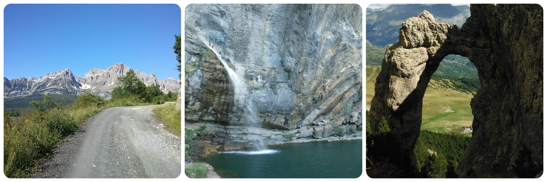 Partacua, Salto de Escarra y Arco de Piedrafita