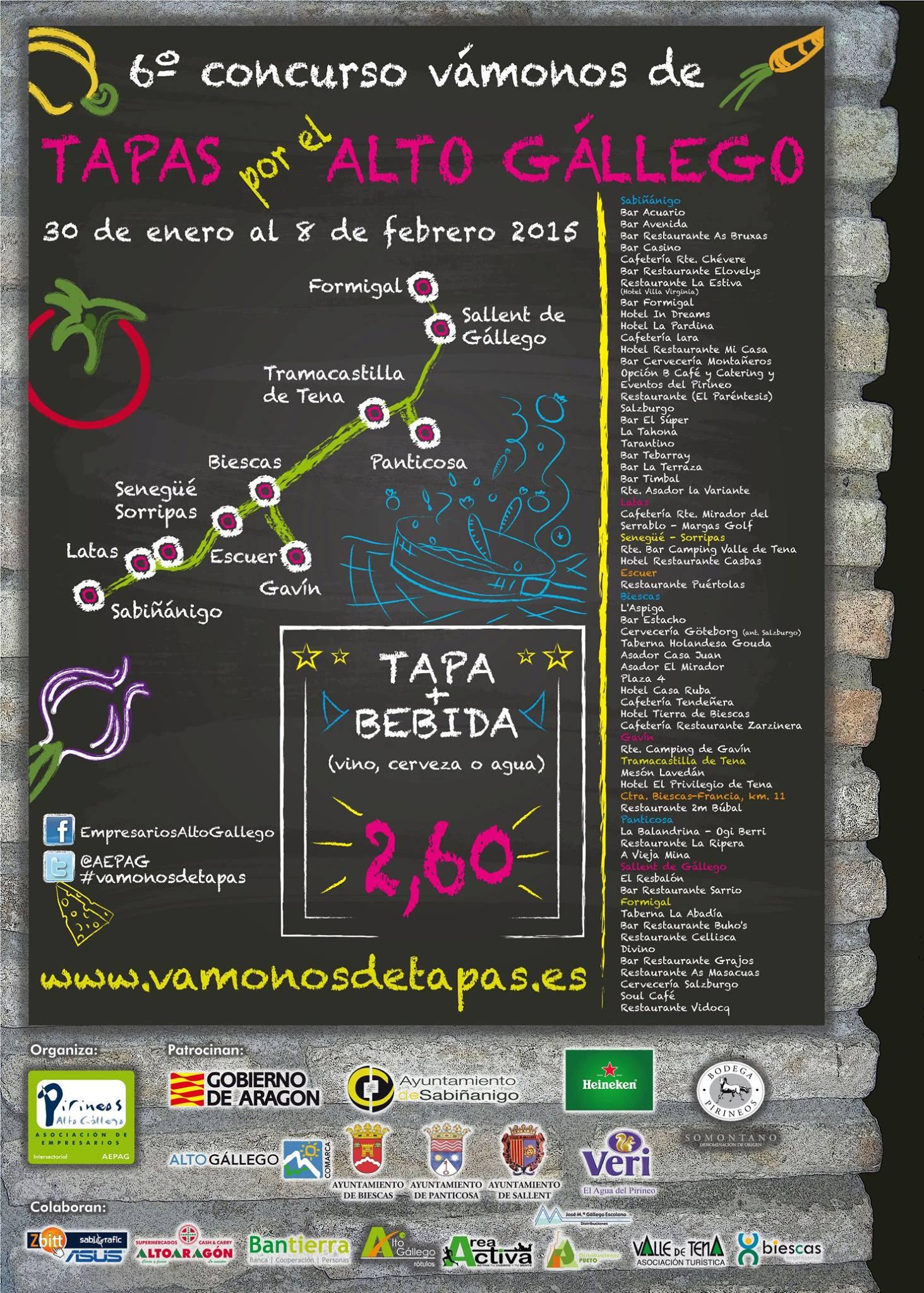 Tapa hotel el Privilegio - VI concurso Vámonos de tapas por el Alto Gállego
