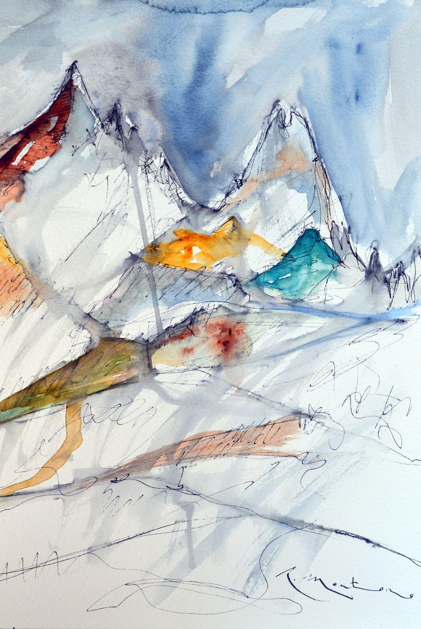 """Exposición """"Montañas"""" de Ricardo Montoro."""